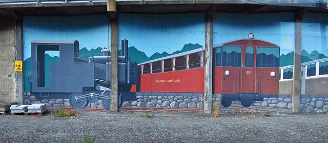 En-route from Martigny to Châtelard-Frontière, Mont Blanc Express, Switzerland