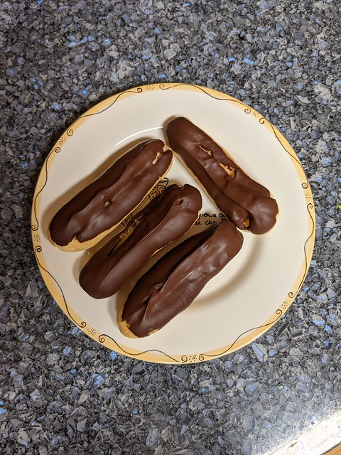 Paris: Chocolate-dipped eclairs