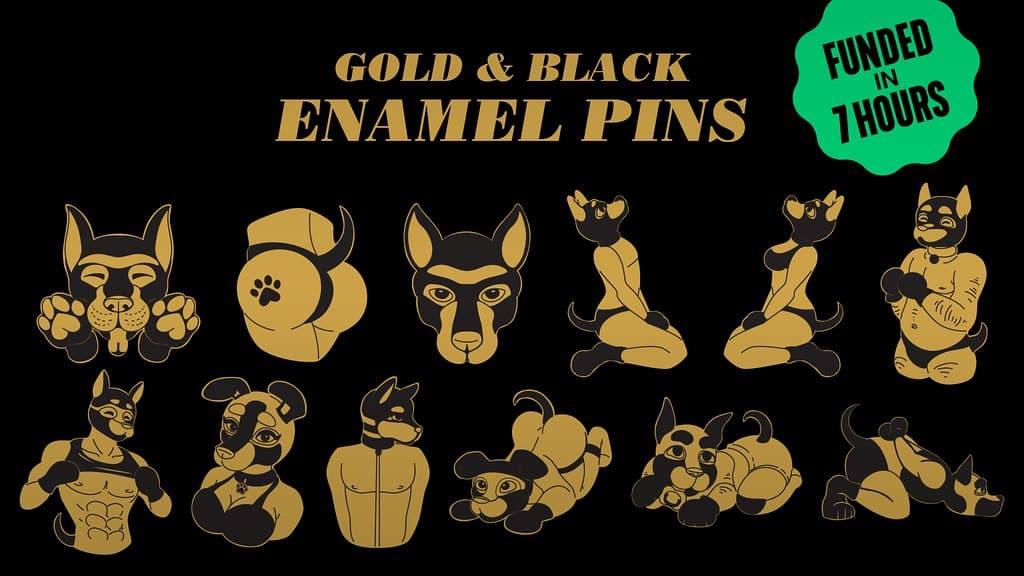 kickstarter pup play pride pins