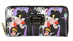 Loungefly Disney Villains Allover Print Zip Around Wallet