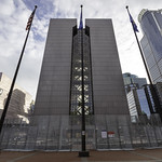 In preparation for the Derek Chauvin trial, security fencing surrounds the Hennepin County Government Center in Minneapolis, Minnesota