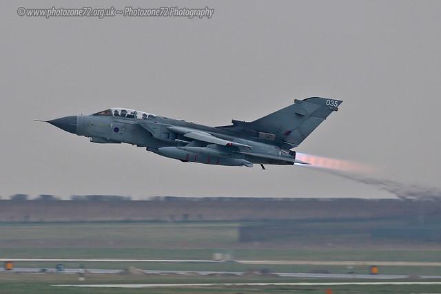 Marham 280219 0124 Tornado 035 takeoff