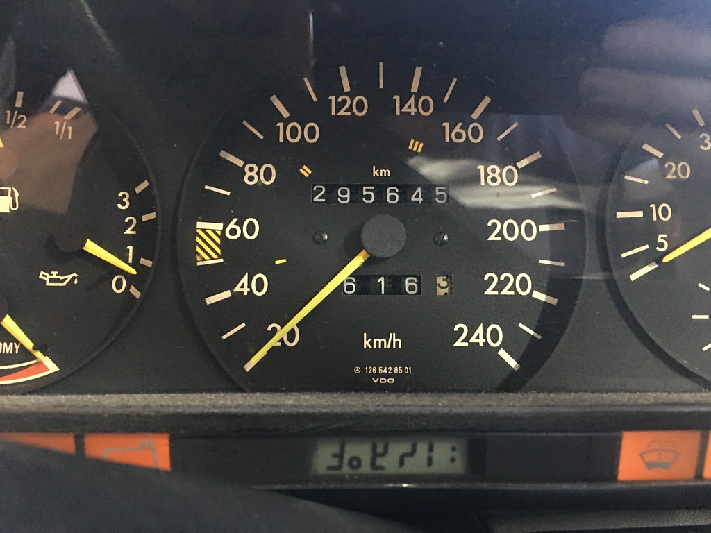 W126 outside temperature display