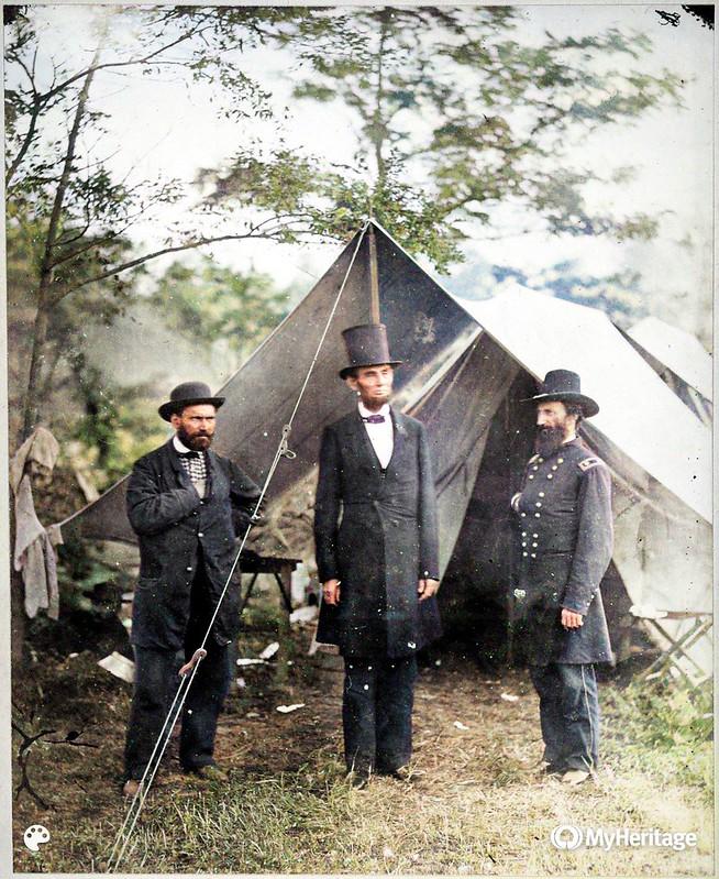 Allan Pinkerton, President Lincoln, and Maj. Gen. John A. McClernand