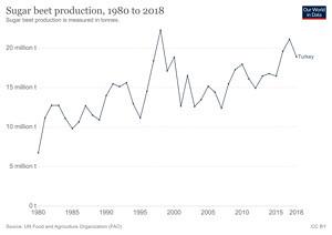Türkiye'de Yıllara Göre Şeker Pancarı Üretimi