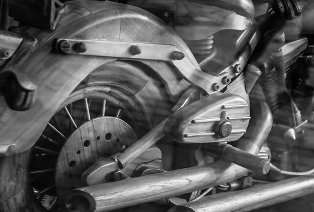 Wooden motorbike