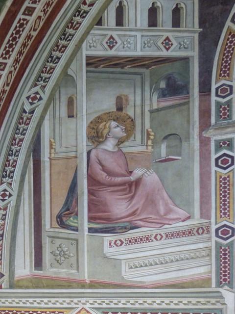 Sat, 09/05/2015 - 15:29 - Annunciation by Taddeo Gaddi - Baroncelli Chapel Santa Croce. Florence 05/09/2015