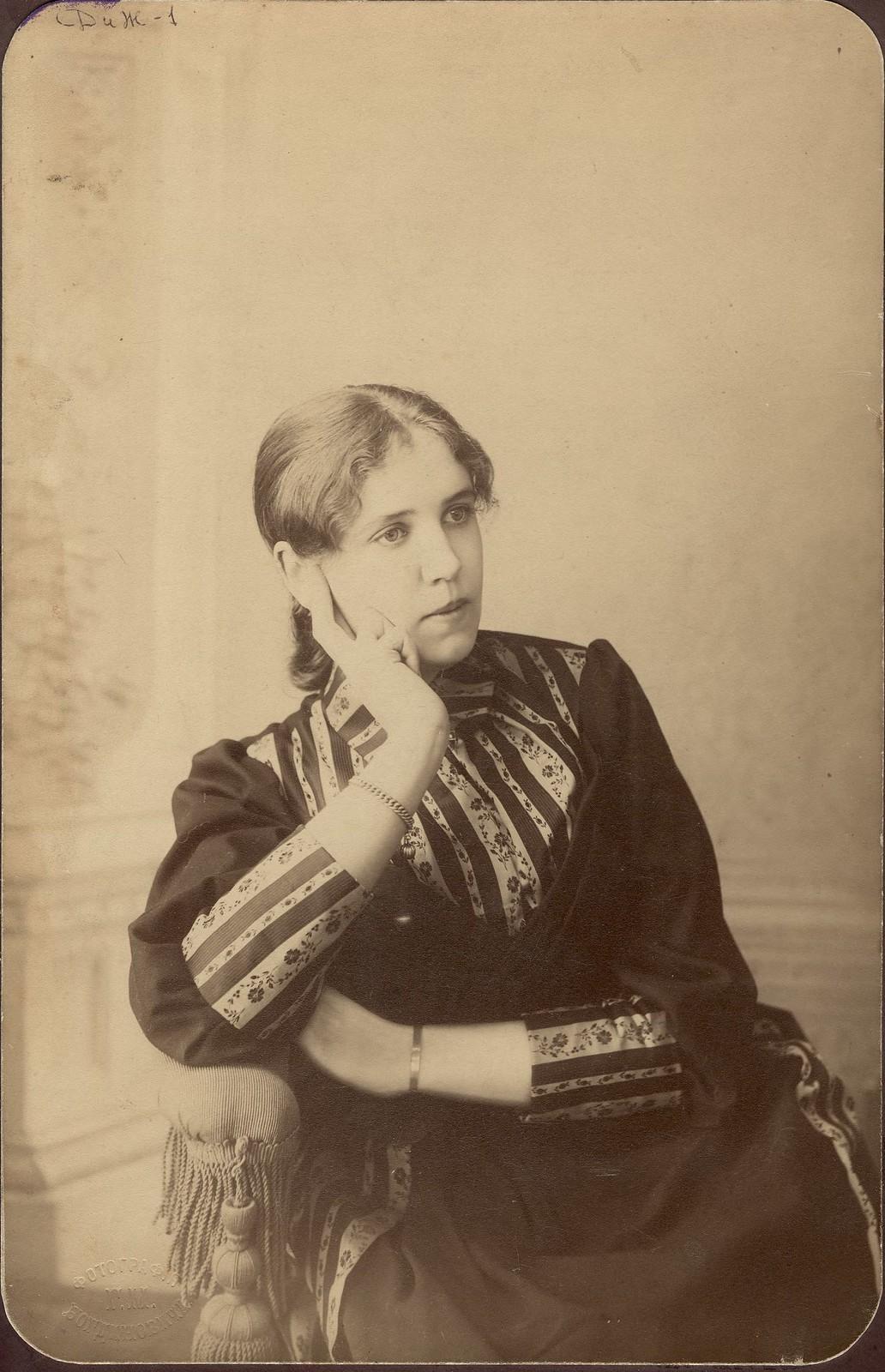 1880. Н.И.Марковская, дочь польского повстанца Иосифа Марковского.