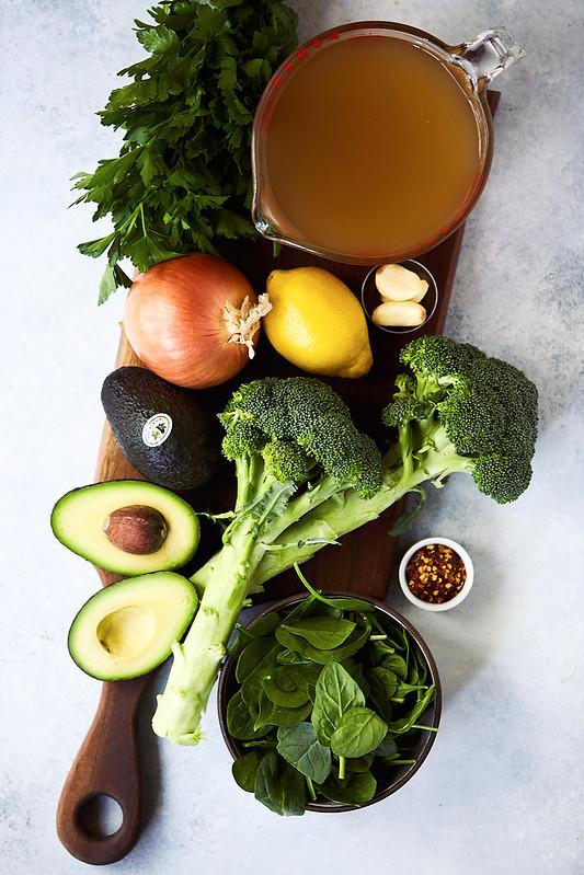 No Waste Broccoli Avocado Soup {gluten-free, paleo, Whole30, keto, options for vegan}