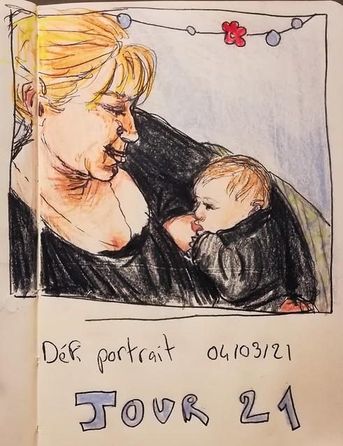 Défi portrait #atelierdessinrenata JOUR 21 Dernier jour !