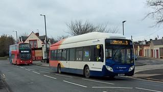 Stagecoach in Sunderland 28026/YR14 CGG & Go North East 6099/NL63 YJC