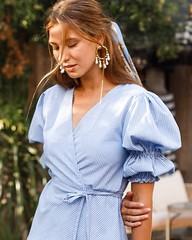 We simply adore the SET SAIL Wrap dress u26f5ufe0f Perfect for romantic dinner dates u2728 . . . model: @nataliashimarova photography: @dashadida location: @yema.bali . . . . . . . #balielf #myelfstyle #dress #minidress #summerdress #heels #highheels #n