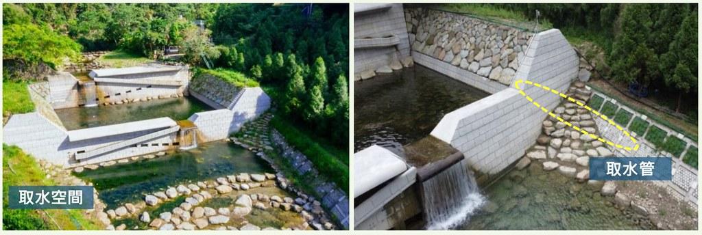於防砂設施規劃預留取水口, 以擴大水源調配、運用範圍。截自農委會簡報