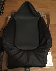 New Smart Roadster Brabus 452 seat backrest cushion black leather heated