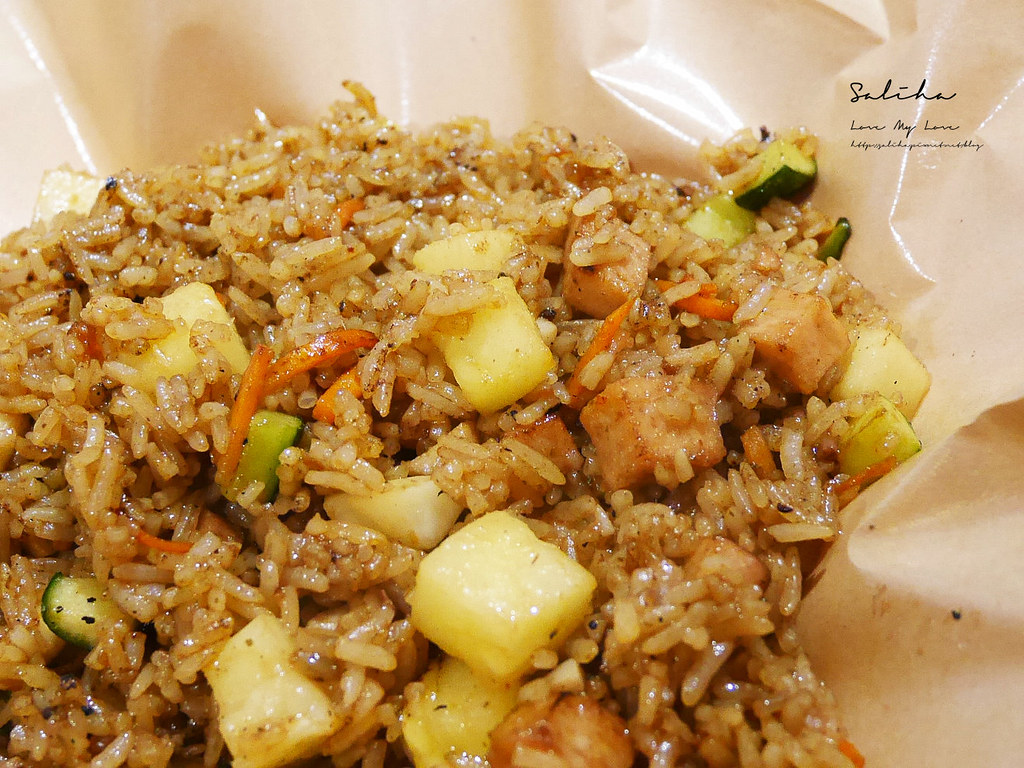 台北素食異國料理推薦寶林咖啡館評價馬來西亞小吃美食素炸雞椰香飯好吃素炒飯 (1)