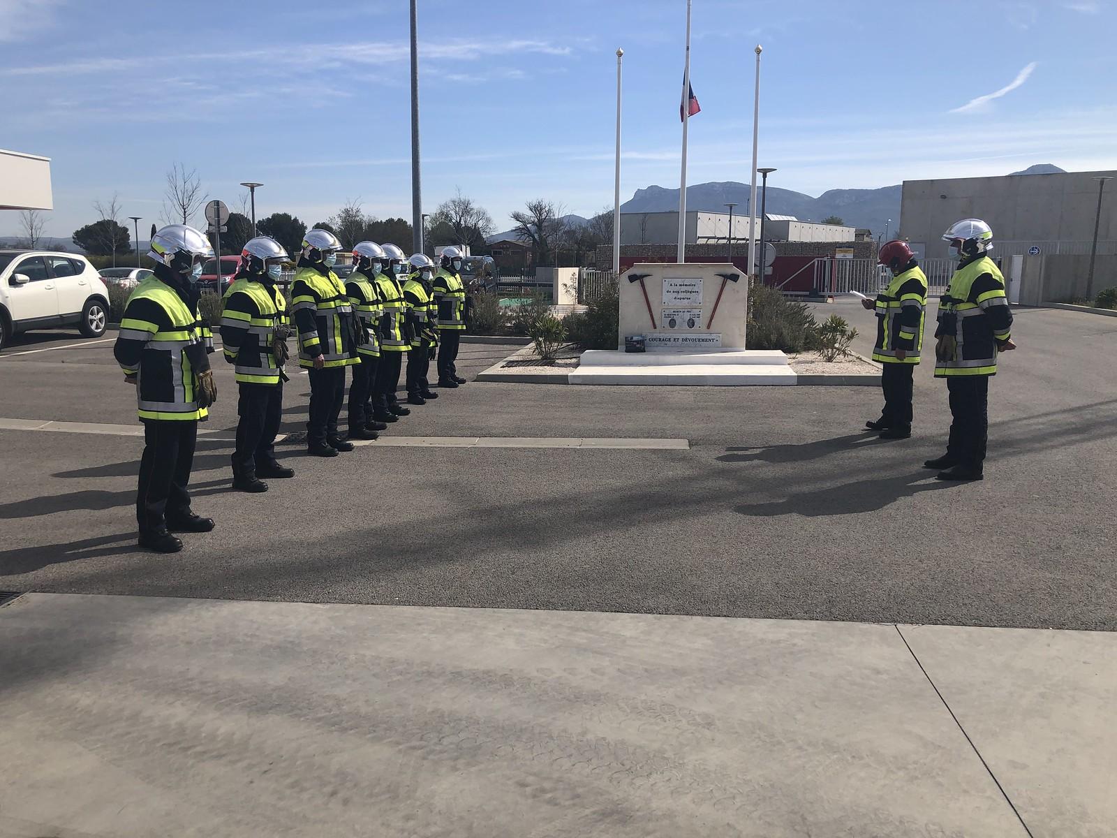 Les Pompiers13 ont rendu hommage au sergent Bryan Rimbaut