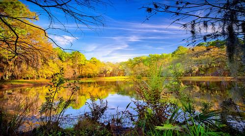 lake reflections bluesky sunset goldenhour nature beauty serenity
