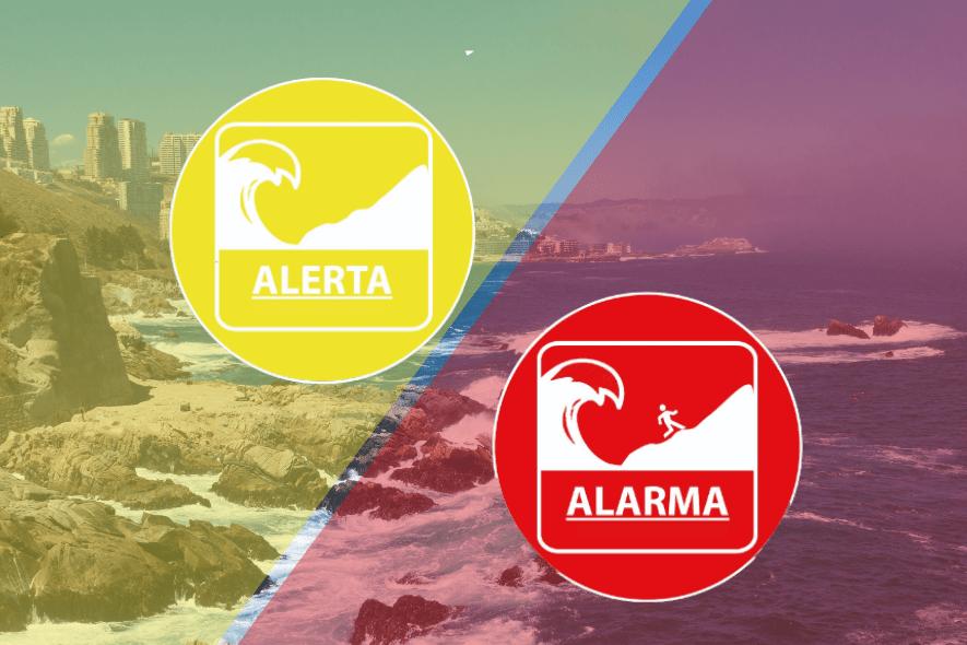 """¿Conoces la diferencia entre una """"alerta"""" y """"alarma"""" de tsunami?"""