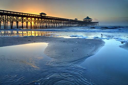 follybeach follyisland southcarolina america atlantic charleston herbst usa automne autumn autunno beach ocean otoño pier sunrise