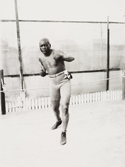 Jack Johnson, African-American boxer and world heavyweight champion, Sydney, c.1908