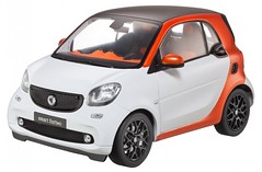 Norev Smart C453 Fortwo Passion Edition 1 White Model Car 1:18