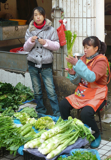 Market Woman with Daughter