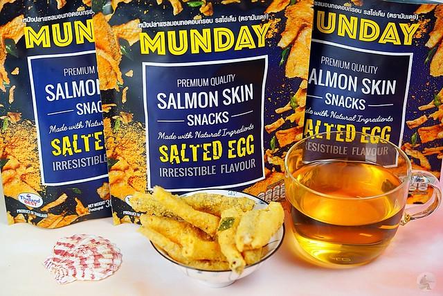 鹹蛋鮭魚皮餅乾