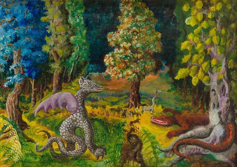 Teofil Ociepka - Jungle with a Dragon, 1967
