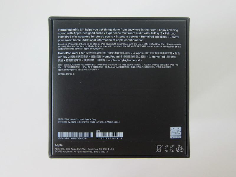 Apple HomePod Mini - Box Bottom