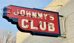 Johnnyu2019s Club neon signage - Patterson, California