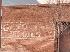Gasoline & Oils ghost sign - Newman, California