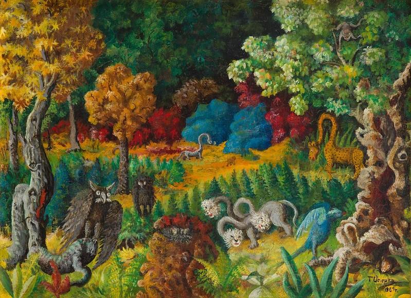 Teofil Ociepka - Landscape with a Dragon, 1973