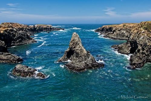 ocean naturelandscape california mendocino mendocinoheadlandsstatepark pacificocean rugged coast rocks tidalzone