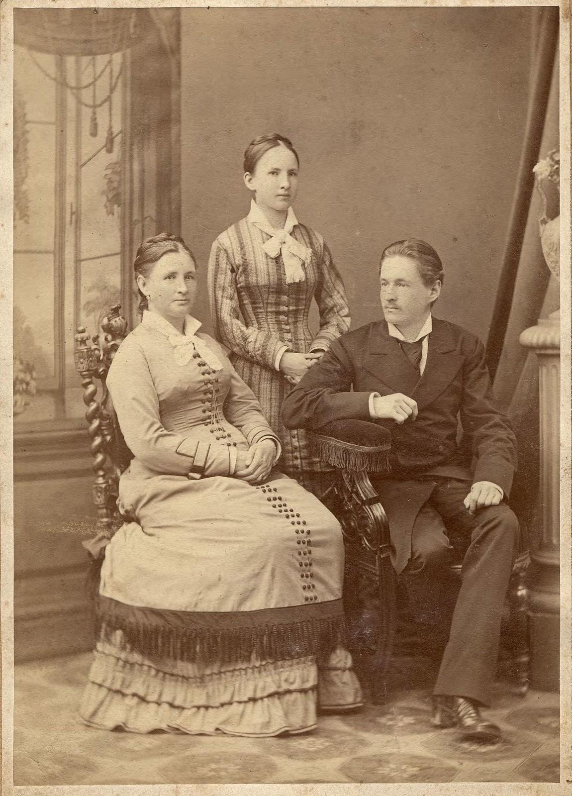 1870. Родители Д. Н. Мамонова с его сестрой.