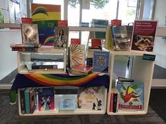 Christchurch Pride book display, Redwood Library