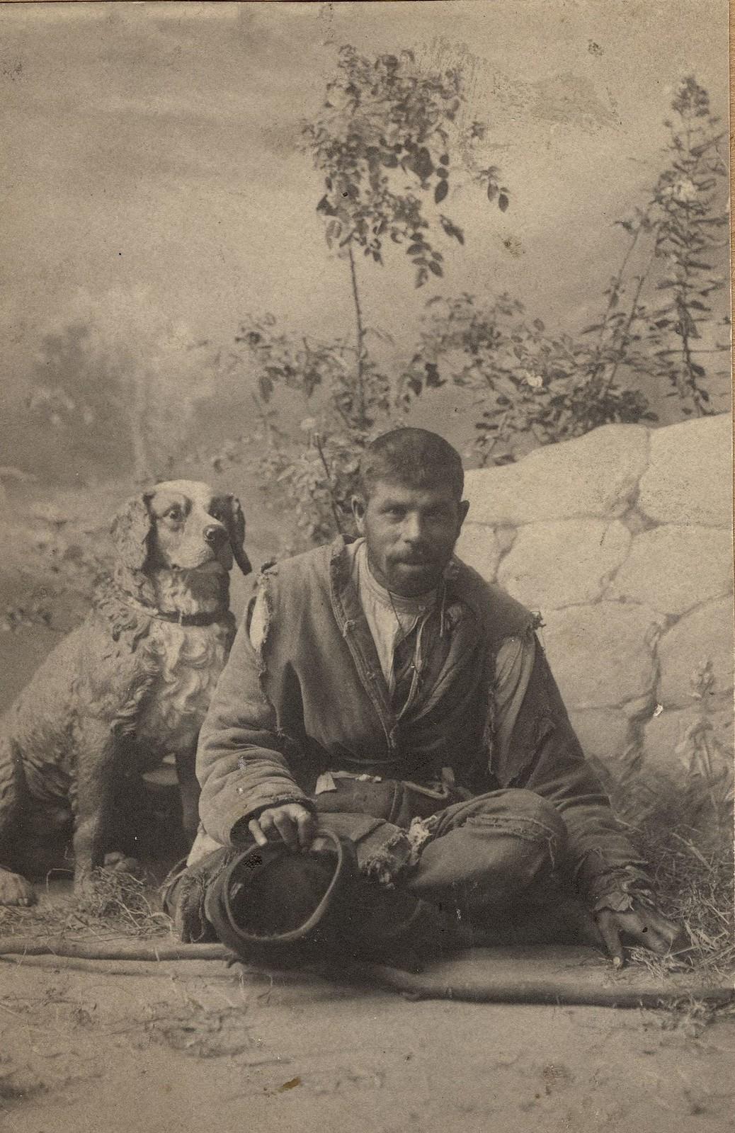 1890. Портрет бродяги в лохмотьях