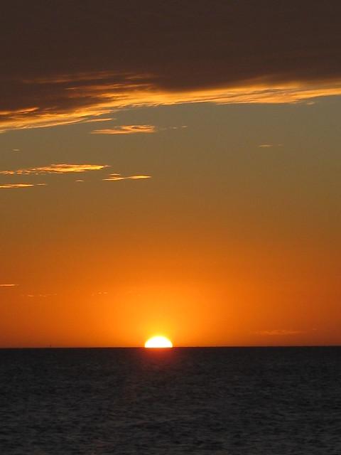 Orange Sunset at Half Moon Bay