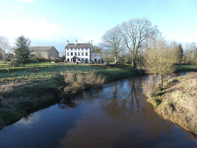 Churchtown - River Wyre looking West 210122 2