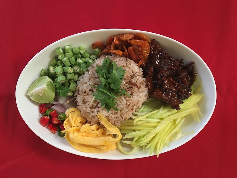 cooked khao krup kapi カオクルックカピ
