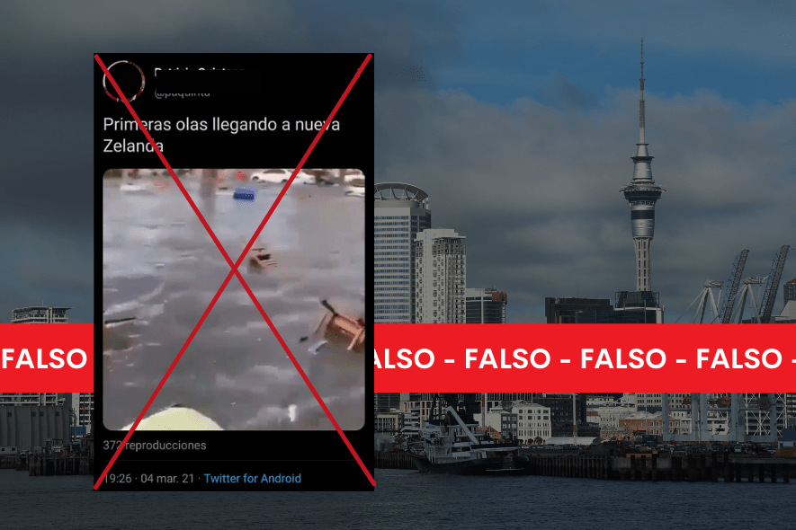 Es falso que este video corresponda a tsunami en Nueva Zelanda