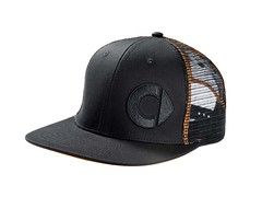Genuine Smart Accessory - Men's Flat Brim Cap Black/Orange