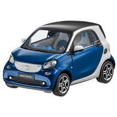 Norev Smart 453 Fortwo Coupe Proxy Blue Model Car 1:43