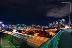 Light trail, Seattle WA
