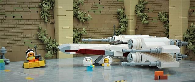 Baby X-wing pilots on Yavin IV