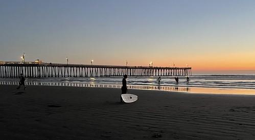 pismopier surfer surfmates pismobeach sunset
