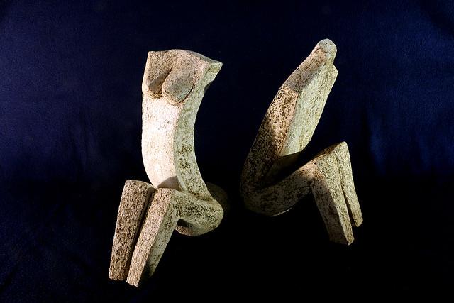 פסל זוג גבר אישה פסלי זוגות יוצרת מודרנית rachel frank רחל פרנק פסלת ישראלית