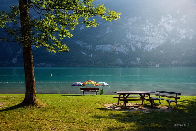 Lac d'Aiguebelette, Savoy, France.