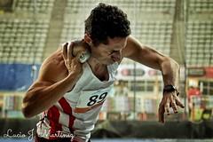 Deportes. Atletismo Máster. Campeonato de Cataluña Indoor.  Combinadas. Lanzamiento de Peso.