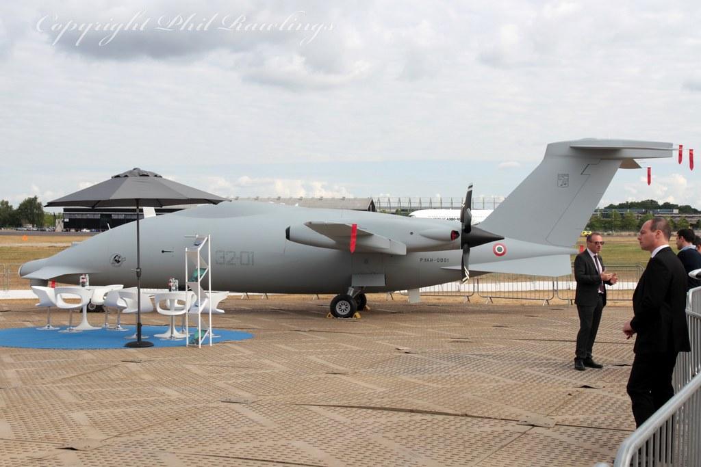 32-01 2013 Piaggio 1HH Hammerhead UAV Italian Air Force Farnborough International Airshow 18.07.18