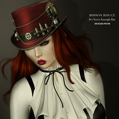 POISON ROUGE It's Never Enough Hat (unisex)